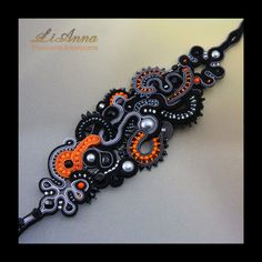 (soutache) by Anna Lipowska. Beautiful and exciting color combination. Beautiful jewelry