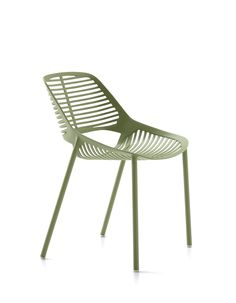 NIWA collection. Chair Sage Green / Sedia Verde Salvia. FAST IN_OUT_ALUMINIUM