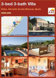 3-bed 3-bath Villa in Altea, Alicante (Costa Blanca), Spain ►€895,000 #PropertyForSaleInSpain