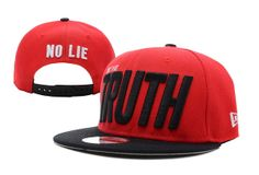 Im The Truth Snapback Hat Red , discount  $4.7 - www.hatsmalls.com