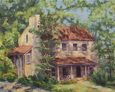 Afternoon in Fredericksburg by Teri McReynolds Oil ~ 16 x 20