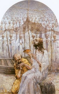 Golgotha of Jasna Gora  The Last Supper.   Peter and Jesus