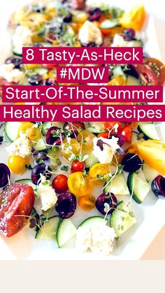 Healthy Eating Recipes, Low Calorie Recipes, Healthy Salads, Gluten Free Recipes, Vegetarian Recipes, Healthy Treats, Watermelon And Feta, Weight Loss Meal Plan, Summer Salads