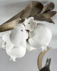 Collage Chandelier II, porcelain detail