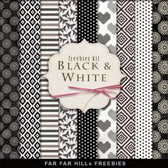 New Freebies Paper Kit - Black & White