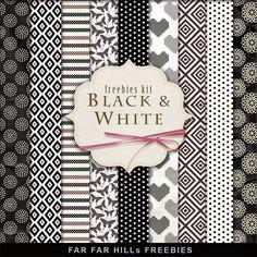 New Freebies Paper Kit - Black & White