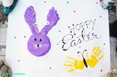 This fun spin on finger painting lets kids get creative – and just a little messy – for Easter.