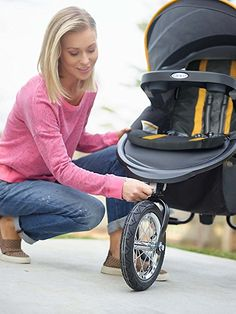 Amazon.com : Graco FastAction Jogger Travel System or SnugRide Click Connect 35 Elite, Sunshine : Baby