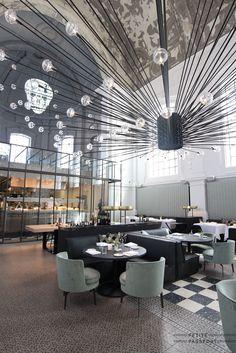 Restaurant Cafe Interior Architect the Jane Antwerp Bar Interior, Restaurant Interior Design, Interior Design Tips, Luxury Interior, Deco Restaurant, Luxury Restaurant, Restaurant Lighting, Restaurant Ideas, Culture Restaurant