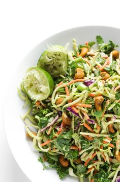 Thai Cashew Ginger Slaw - The Forked Spoon
