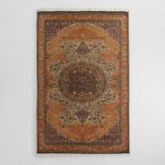 5x8 Yellow Jute Soha Area Rug - v1 149