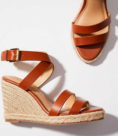 Shop LOFT for stylish women's clothing. You'll love our irresistible Criss Cross Espadrille Wedge Sandals - shop LOFT.com today!