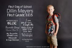 It's BACK! It's time to start thinking about the first day of school! Use this great template to create a memorable first day of school for your kids!The KMP Back to School Template can be printed and framed OR added to your images in Photoshop or Photoshop Elements with an easy drag and drop. All text can be color changed with a quick overlay adjustment. Chalkboard layer can be easily turned off as well.This is a digital download. NO REFUNDS will be given.<iframe wid...