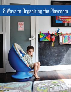 8 Tips and Tricks to Organizing Your Playroom – Find all of the best ways to keep your little guy's favorite spot clean. Make it easy to clean up after a full day of playing!
