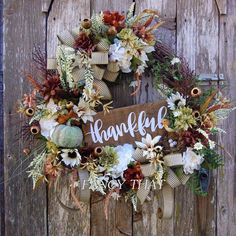 Thanksgiving/Fall/Everyday wreath. Beautiful, soothing color scheme. Only one available