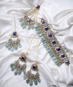 Mint Jewelry, Jewelry Design Earrings, Necklace Designs, India Jewelry, Turquoise Jewelry, Jewlery, Antique Jewellery Designs, Fancy Jewellery, Stylish Jewelry