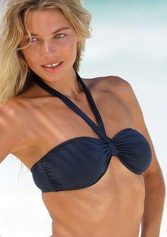 Mit herausnehmbaren Cups und seitlichen Stäbchen für einen besseren Halt. Im Nacken zu binden und im Rücken zu schließen. Mix-Kini im aktuellen Look in 3 Unifarben oder im modischen Druckdessin. Tops und Hosen zum Kombinieren für Ihren Wunsch-Bikini! Softe Microfaser-Qualität aus 88% Polyamid, 12% Elasthan.  Sommer, Sonner, Strand & Meer: Das Bandeau-Top der Marke LASCANA hat ein schönes, modis...