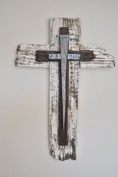 Baby blue rustic wood cross great for boys by heartifactsgallery, $49.00