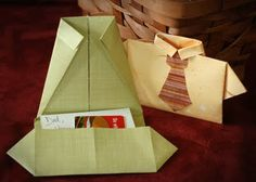 stuffed shirt. ~ PERFECT for holding a GIFT CARD for FATHER'S DAY!  :)
