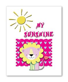 My Sunshine Lion Nursery Art Kids Room Decor Children by DigiRoom