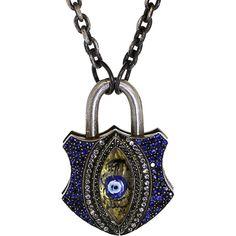 Sevan Bicakci Carved Evil Eye Padlock ($13,500) ❤ liked on Polyvore featuring jewelry, 24-karat gold jewelry, 24k jewelry, evil eye jewelry, sevan bicakci jewelry and 24 karat gold jewelry