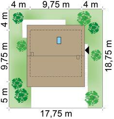 Działka 17.75 × 18.75 m domu Dom na Stoku 5 T