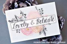 Premade Watercolor Logo by Amy J. Coe on @creativemarket