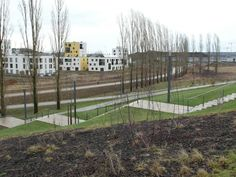 Water Re-use and Visibility in the new city of Belval #landscapearchitecture #Belval Nord #Luxembourg #WSUD #SUDS #water