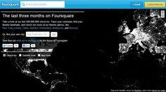 Foursquare cria infográfico usando 500 milhões de check-ins / Foursquare infographic using 500 million check-ins