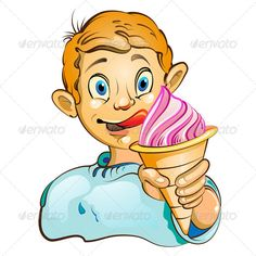 Realistic Graphic DOWNLOAD (.ai, .psd) :: http://vector-graphic.de/pinterest-itmid-1005387568i.html ... Cartoon Boy with Ice Cream ...  boy, cartoon, cone, cream, creamy, creme, cup, dessert, eye, food, frosting, hand, ice, ice-cream, milky, mouth, pastry, product, refreshment, soft, strawberry, sweet, twirl  ... Realistic Photo Graphic Print Obejct Business Web Elements Illustration Design Templates ... DOWNLOAD :: http://vector-graphic.de/pinterest-itmid-1005387568i.html