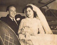 "1957 newlyweds ""Gaga"" and ""Mimi""Gastonia, North Carolina"