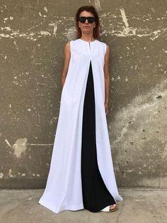 Linen Dress White Linen Dress Plus Size Maxi Kaftan White Dress Plus Size, Plus Size Outfits, Plus Size Long Dresses, White Linen Dresses, White Dress, Estilo Fashion, Skirt Fashion, African Fashion, Plus Size Fashion