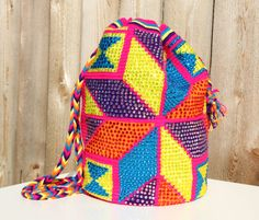 Hand woven by native Wayuu people from La Guajira, Colombia and embellished with DMC crystals  www.etsy.com/shop/makawiaccessories