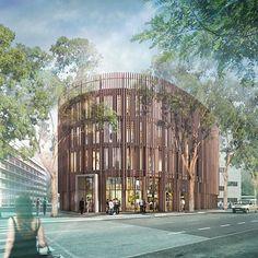 La construction de ce bâtiment en bois, bioclimatique et basse consommation, marque une étape importante pour la filière bois en Pays de la Loire  source Officeetculture .com