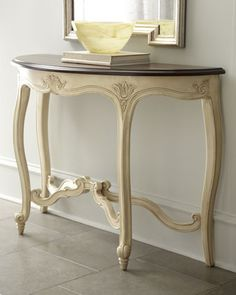 """""""Victoria"""" Carved Console at Horchow."""