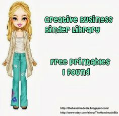 The Handmade Biz: Creative Business Binder Library Printables