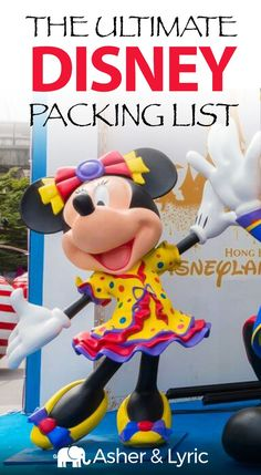 """17 top Disney packing list items + what to wear & NOT to bring. A lot of people were asking me, """"What should I pack for Disney?"""" so I wrote this complete packing checklist which includes Disney travel outfit. Packing List For Disney, Packing Tips For Vacation, Packing Checklist, Disney Tips, Travel Packing, Travel Tips, Disney Planning, Disney Disney, Travel Ideas"""