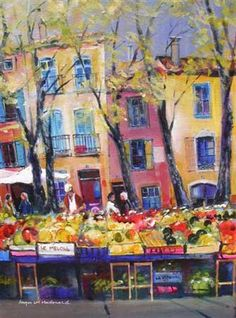 Painting Ceret Market Cool Art, Awesome Art, Places To Travel, France, Picasso, Painting, Spaces, Inspiration, Wall