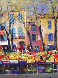 Painting Ceret Market