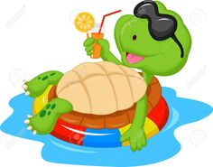 24336343-Cute-turtle-cartoon-on-inflatable-round--Stock-Vector-tortoise.jpg (1300×1020)