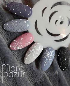 Winter Nails - Polubienia: komentarze: 6 – Indigo Nails France ( na I. Winter Nail Designs, Winter Nail Art, Christmas Nail Designs, Christmas Nail Art, Nail Art Designs, Winter Christmas, Xmas Nails, Holiday Nails, 3d Nails