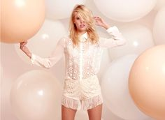 Spring Lookbook lulus - lace shorts with fringe. I think I might need to add these to my collection!
