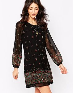 Yumi Border Print Shift Dress