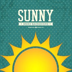 Sunny vector background Free Vector