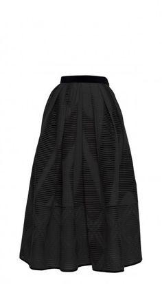 TIBI Arboretum Jacquard Full Skirt via @stylelist | http://aol.it/1sV6Erw