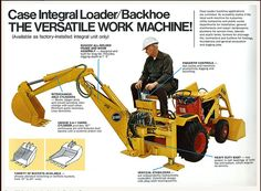 Case 600 series mini backhoe...yes, my sweetheart would be having a ball with this baby!