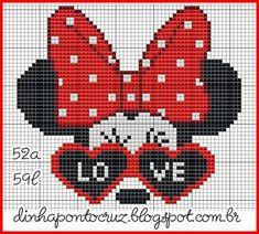 Mini Disney Cross Stitch Patterns, Counted Cross Stitch Patterns, Cross Stitch Designs, Cross Stitch Embroidery, Cross Stitch Boards, Cross Stitch Love, Cross Stitch Alphabet, Stitch Cartoon, Tapestry Crochet