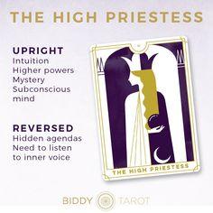 Learn the Tarot card meanings with Biddy Tarot | The High Priestess Card | Major Arcana | Everyday Tarot #tarot