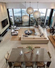 Interior Design Blogs, Luxury Interior, Interior Decorating, Interior Ideas, Living Room Designs, Living Room Decor, Living Area, Dining Room, Dining Table