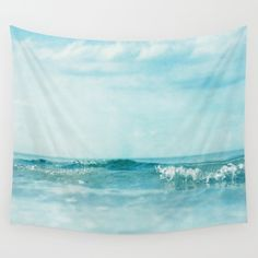 ocean, sea, waves, green, blue, aqua, water, sky,